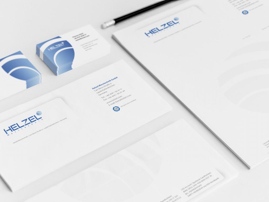 Briefbögen Visitenkarten Design Helzel Geschäftsaussattung