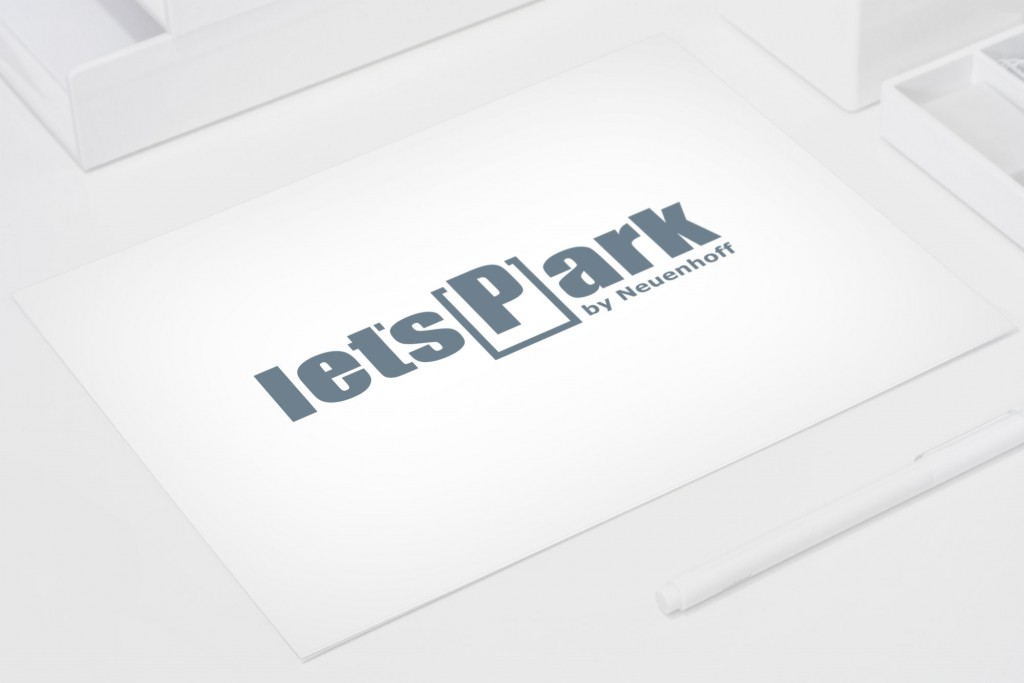 Logo design on desktop Let'sPark