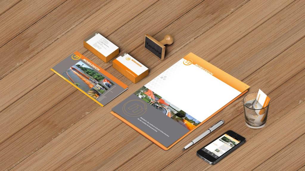 Mobildeich-Geschäftsausstattung Corporate Design