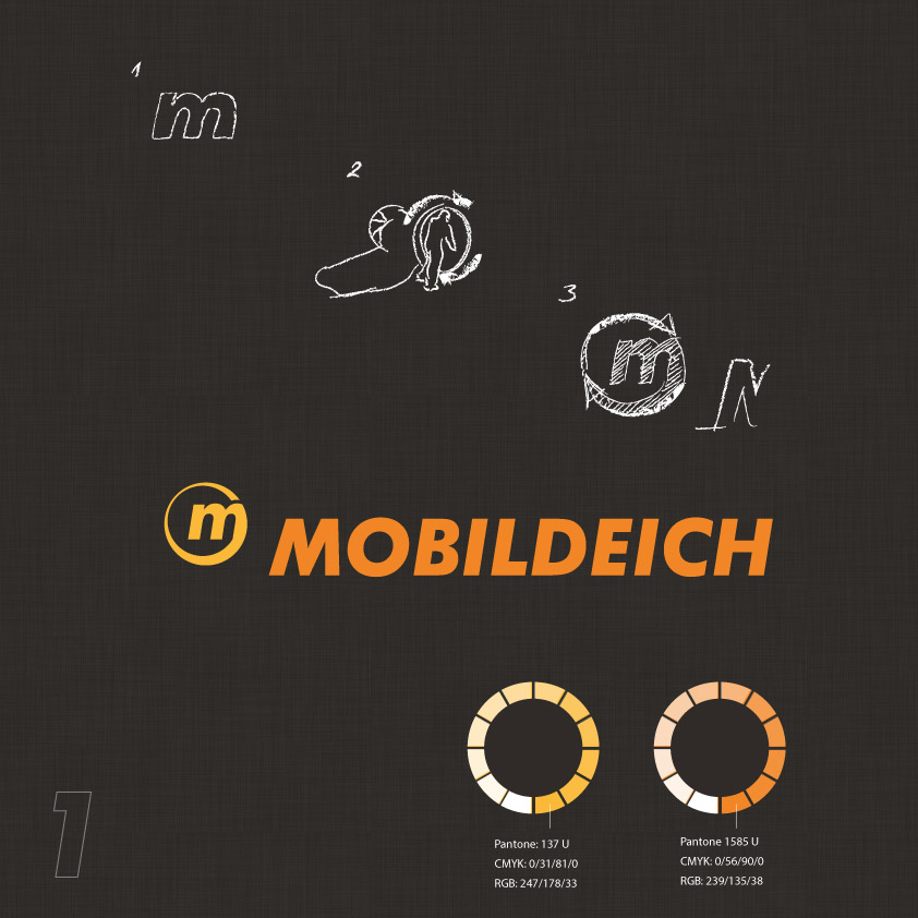 Mobildeich making-of-logo design logoboard